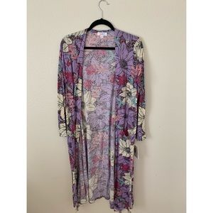 Watercolor Floral Duster
